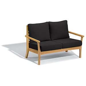 Mera Loveseat with Black Onyx Cushions