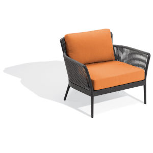 Nette Carbon and Tangerine Patio Club Chair
