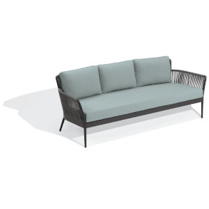 Nette Carbon and Seafoam Outdoor Sofa