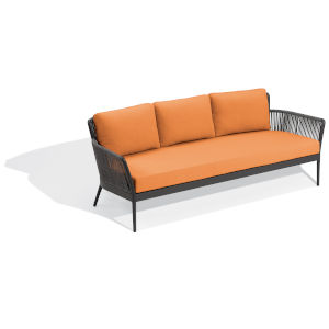 Nette Carbon and Tangerine Outdoor Sofa