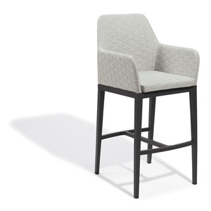 Oland Canvas Granite Bar Chair