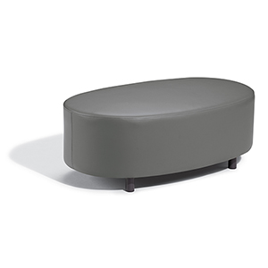 Salino Nauticau Nickel Coffee Table Pouf