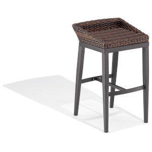 Salino Carbon and Sable Outdoor Bar Stool, Set of 2