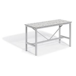 Travira Silver and Ash 72-Inch Rectangular Bar Table