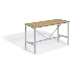 Travira Silver and Natural 72-Inch Rectangular Bar Table
