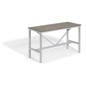 Travira Silver and Vintage 72-Inch Rectangular Bar Table