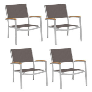Travira Cocoa Sling Chat Chair - Set of 4