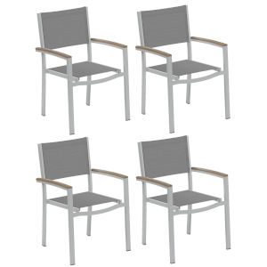 Travira Titanium Arm Chair Set of 4