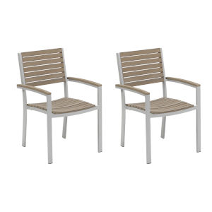 Travira Vintage Tekwood Armchair, Set of Two
