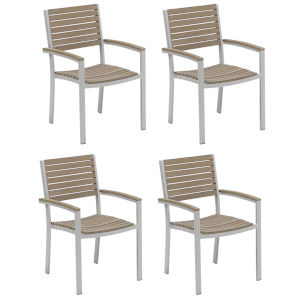 Travira Vintage Tekwood Armchair, Set of Four