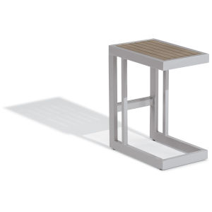 Travira Aluminium and Gray Outdoor C Table