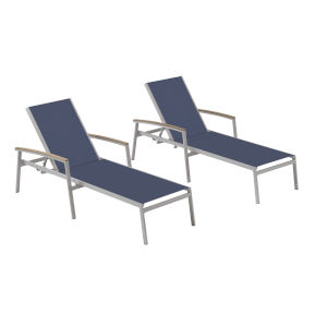 Travira Ink Pen Sling Seats Chaise Lounge Set of 2