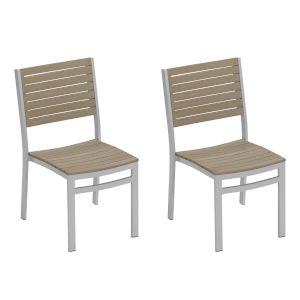 Travira Vintage Tekwood Side Chair, Set of 2