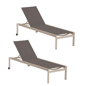 Ven Cocoa Chaise Lounge, Set of Two