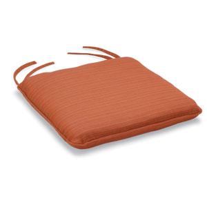 Mera Stacking Armchair Cushion - Dupione Papaya Sunbrella