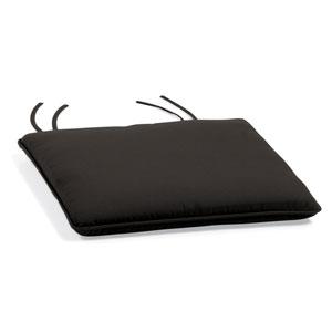 Sunbrella Cushion for Oxford Garden Side Chairs - Black Sunbrella® Fabric