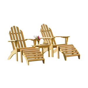 Adirondack Natural Shorea 5-Piece Chat Set