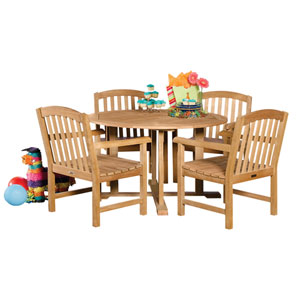 Chadwick Natural Shorea 5-Piece Dining Set