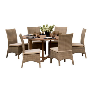 Oxford Natural Shorea 13-Piece Dining Set