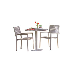 Travira Vintage Teakwood 3-Piece Bistro Set with 32-Inch Table