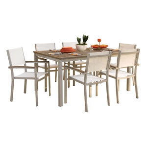 Travira Vintage Teakwood 7-Piece Dining Set