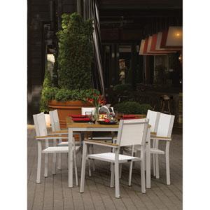 Travira Natural Tekwood 7 Piece Dining Set with Natural Sling Seats
