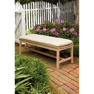 Oxford 5 ft. Backless Bench - Natural Shorea - Natural
