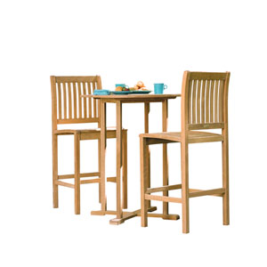 Sonoma 36-inch Table 3-Piece Bar Set - Natural Shorea