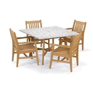 Wexford - 5-Piece Dining Set with 48-inch Table - Natural Shorea - Lite-Core Ash