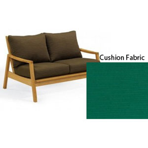 Siena Natural Loveseat with Canvas Hunter Green Deep Seat Cushion Sets
