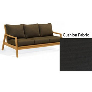 Siena Natural Sofa with Canvas Black Deep Seat Cushion Sets