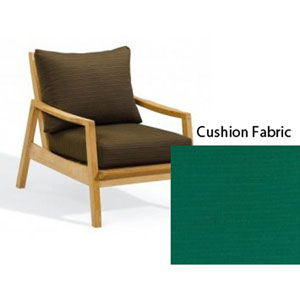 Siena Natural Club Chair with Canvas Hunter Green Deep Seat Cushion Set