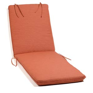 Oxford Dupione Papaya Chaise Cushion