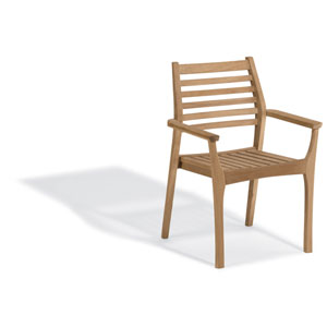 Mera Stacking Armchair - Natural Shorea - Set of 4