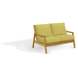 Siena Loveseat - Natural Shorea - Peridot Polyester Cushion