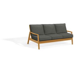 Siena Sofa - Natural Shorea - Heather Black Polyester Cushion