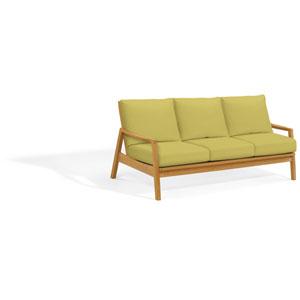 Siena Sofa - Natural Shorea - Peridot Polyester Cushion