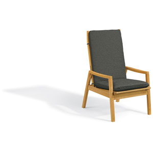 Siena Reclining Armchair - Natural Shorea - Heather Black Polyester Cushion