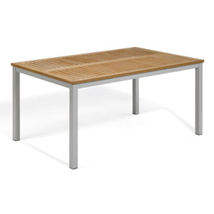 Travira 63-Inch Natural Tekwood Dining Table