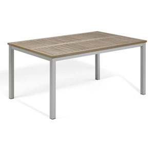Travira 63-Inch Vintage Tekwood Dining Table