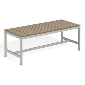 Travira 48-Inch Vintage Tekwood Backless Bench