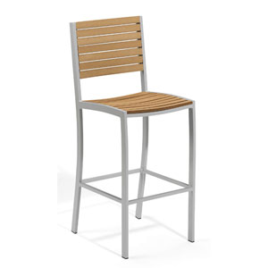 Travira Natural Tekwood Bar Chair