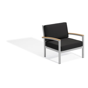 Travira Club Chair - Natural Tekwood - Jet Black