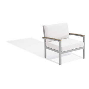 Travira Club Chair - Vintage Tekwood - Eggshell White