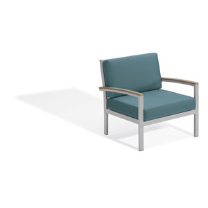 Travira Club Chair - Vintage Tekwood - Ice Blue