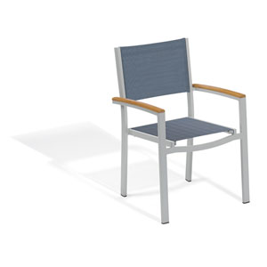Travira Titanium Arm Chair Set of 4
