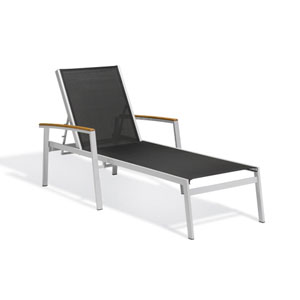 Travira Black Sling Chaise Louge, Set of Two