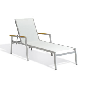 Travira Natural Sling Chaise Louge, Set of Two