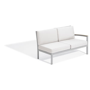 Travira Modular Lovseat - Left - Vintage Tekwood - Eggshell White