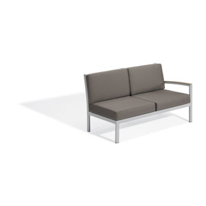 Travira Vintage Tekwood Left Modular Loveseat